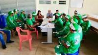 ?? Reunião no Centro Regional de Triagem de Materiais Recicláveis do CPAC, com todos os membros da Cooperativa de Catadores de Itabaiana - COORECI, Representantes da Empresa CONPETSAN, e os técnicos do CPAC, que teve como pauta o treinamento para uma gest
