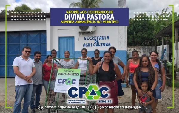 SUPORTE AOS COOPERADOS DE DIVINA PASTORA AUMENTA A ABRANGÊNCIA DE COLETA SELETIVA NO MUNICÍPIO