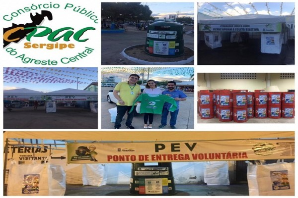 CPAC, Implementa projeto de Coleta Seletiva , com inclusão dos Catadores na FESTA DOS CAMINHONEIROS E FEIRA DO CAMINHÃO EM ITABAIANA/SE.