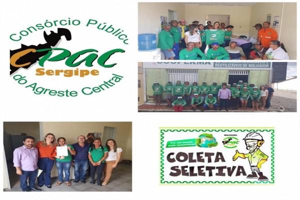 CPAC faz entrega de fardamentos e EPIS aos Catadores de Materiais Recicláveis da Cooperativa de Malhador/Se.
