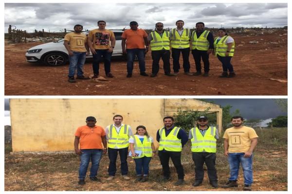 Núcleo de Engenharia do Cpac e Prefeitura de Carira realizam análise técnica em áreas do município