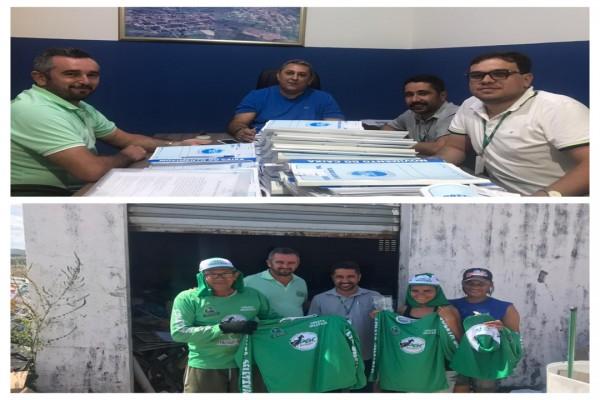 Consórcio Público e Prefeitura de Moita Bonita firmam metas para regularizar e reformar Centro Regional de Triagem de Materiais Recicláveis
