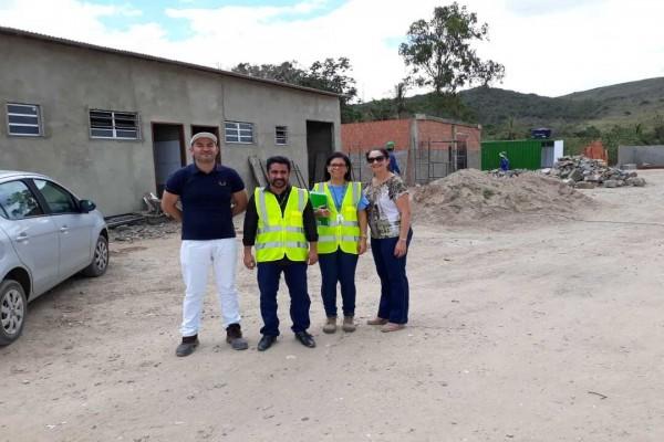Agreste Sergipano: CPAC visita obras do Centro Regional de Triagem do município de Malhador