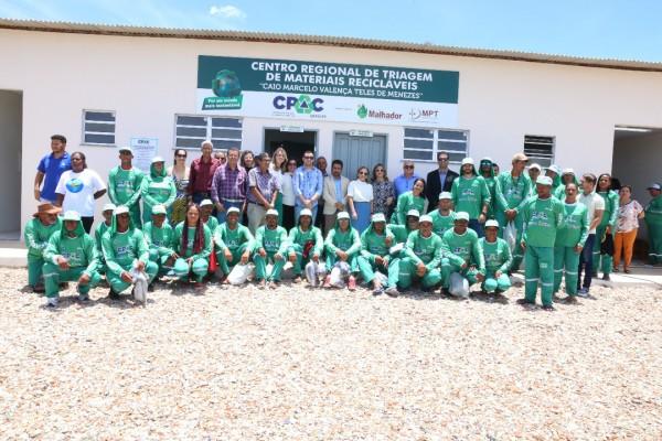 Cpac inaugura Centro de Triagem de Resíduos Sólidos em Malhador